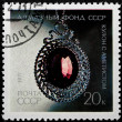 Stock Photo: Postal stamp. Coulomb with amethyst, 1971