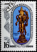 Postal stamp. Statuette, 1969 — Stock Photo