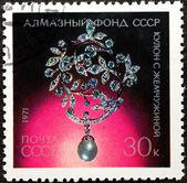 Poštovní razítko. coulomb s perlami, 1971 — Stock fotografie