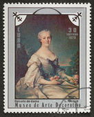 Postal stamp. Portrait lady, 1975 — Stock Photo