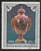 почтовая марка. китайская ваза, 1975 — Стоковое фото