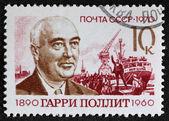 Postal stamp. Garri Pollit, 1970 — Stock Photo