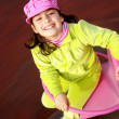 Child in Spinner - Foto Stock