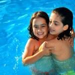 Pool Girls — Stock Photo