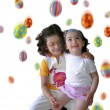 Foto Stock: Easter Rain white vertical