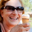 Stock Photo: Icecream Woman