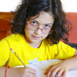 Girl Studying — Stockfoto