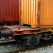 Train Containers - Foto Stock