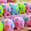 Money pigs - Stock Photo