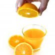 Royalty-Free Stock Photo: Orange Squeezing