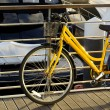 Stock Photo: Yellow Bicycle