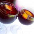 Cups with Sangria — Stock Photo