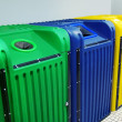 Recycling Containers - Foto Stock