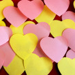 Heart shaped post it — Stock fotografie