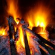 bbq fire — Stock Photo