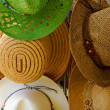 straw hats — Stock Photo