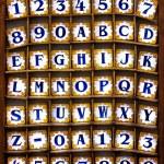 Alphabet Tiles — Stock Photo