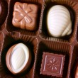 Chocolates closeup - Stockfoto
