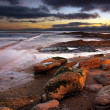 Stock Photo: Coastline at twilight