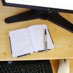 Computer desk — Stock Photo