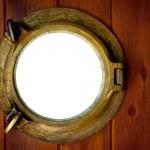 Brass Porthole — Stock Photo