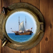 Brass Porthole - Stock Photo