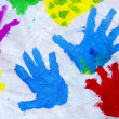 hand prints&quot — Stock Photo