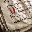 Medieval Choir Book - Stockfoto