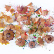 Stock Photo: Pencil shavings