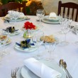 Stock Photo: Christmas Table Set