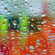 Colorful wet window — Stock Photo