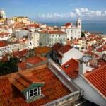 tetti di Lisbona — Foto Stock