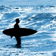 Stock Photo: Summer vacations, surfing