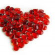 Glass gems heart - Stock Photo