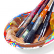 Brushes in a Plate — Stock Photo