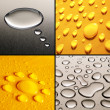 Water Drops Set — Stock Photo