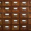 Tagged drawers — Stock Photo #5874750