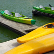 Stock Photo: Kayaks