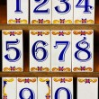Number Tiles - Stock Photo