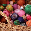 Assorted Yarn - Stock Photo