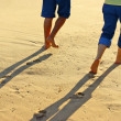 Walk on sand — Stockfoto