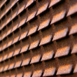 Rusty Iron Blind — Stock Photo