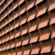 Stock Photo: Rusty Iron Blind