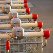 supermarket karts — Stock Photo