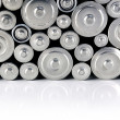 Stock Photo: Stack of batteries