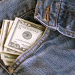 Dollars and Jeans II — Stock Photo