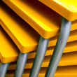 Yellow Tables — Stock Photo