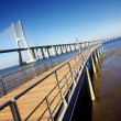 Vasco da Gama Bridge - Stock Photo
