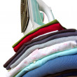 Iron on Clothes - Stock Photo