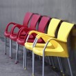 Royalty-Free Stock Photo: Red and Yellow Chairs